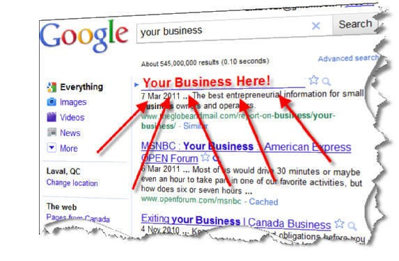 make your website appear on the first page of google